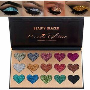 💙Beauty Glazed Pressed Glitter 15 color palette
